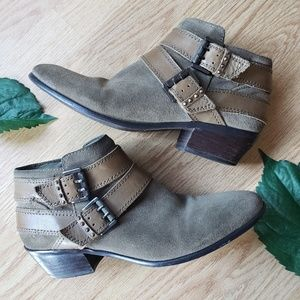 🌿Sam Edelman Pippen Booties Suede Olive Size8